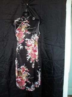 Oriental style mini dress