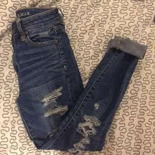SIZE 25 AE JEANS