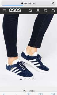 Adidas gazelle navy suede sneakers