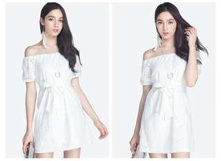 Fayth Leanne Eyelet Dress brand new authentic