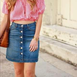 H&M button denim skirt