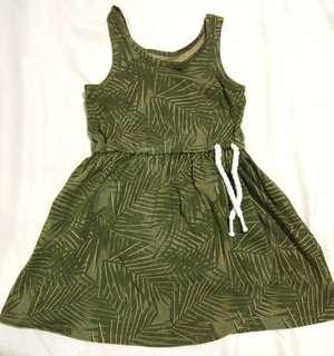 Carters dress army green