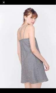 Fathy gingham dress brand new size S