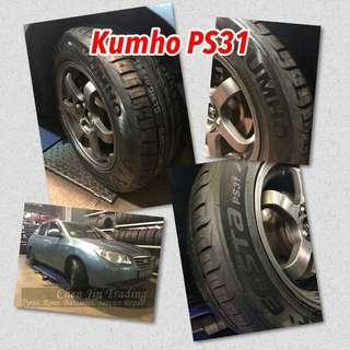 Kumho Tyres on promotion! Best price, new arrival, wholesale price, Kumho Escta, Ecowing, PS31, PS71, KH32, KH17, PS91