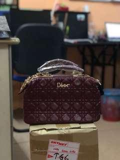 Dior Leather Handbag Set