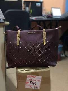 Furla Leather Handbag Set