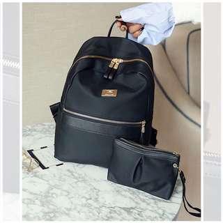 Korean Style 2 in 1 Metal Backpack