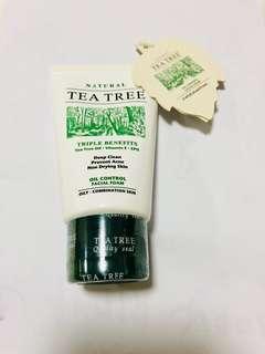 Tea Tree Oil Control Facial Foam