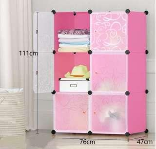 Simple wardrobe storage shelves plastic lockers toys storage cabinets adult