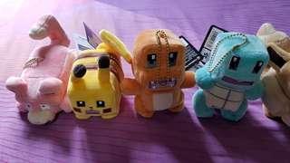 Pokemon Minecraft - esque Cube Square Plush small Bears