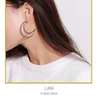 Hollow Moon Earrings