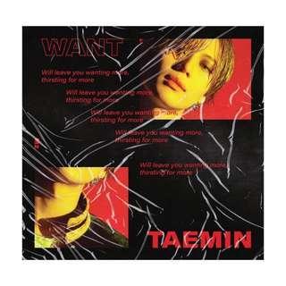 [Pre-order] TAEMIN 태민 (2ND MINI ALBUM 미니앨범) - WANT ( WANT ver. || MORE ver. )