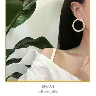 Retro Acrylic Round Earrings