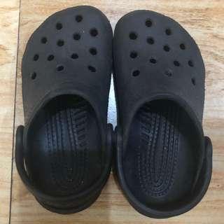 Crocs Black Sandals size 9