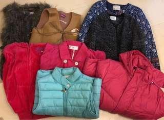 M&S女童背心、Zara外套