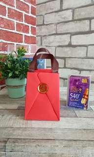 Mini Origami Paper Bag Merah Imlek Size M