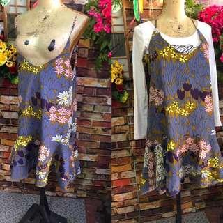 Korean slip on dress size m-l