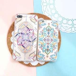 Iphone 7 Case Mandala Flower (Biru)