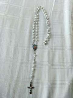 🚚 New catholic rosary handmade wine colour crucifix