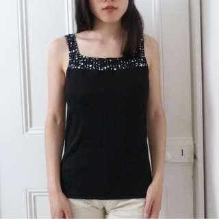 BRAND NEW Miller's Black Beaded Top