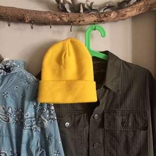 🚚 全新 美國製 Beams 購入 毛帽 雪帽 保暖 滑雪螢光 復古 watch cap