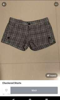 Checkered Plaid Shorts