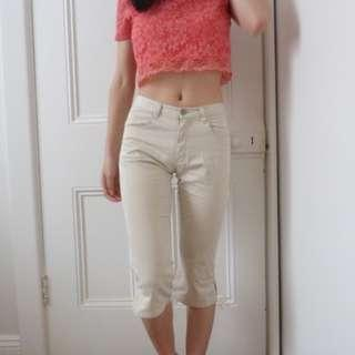 GAP Beige Capri Pants