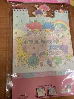 🚚 Sanrio little twin star calendar