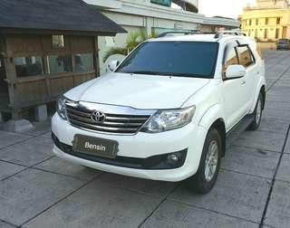 TOYOTA Fortuner G lux 2.7 at 2013 bensin dp 35 jt