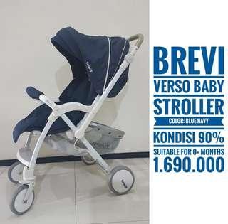BREVI Verso Baby Stroller, color: navy blue, surabaya