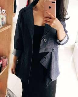 Asymetrical outerwear