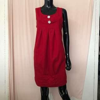 Red Dolly Dress for layering