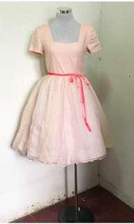 Dainty organza vintage mini dress