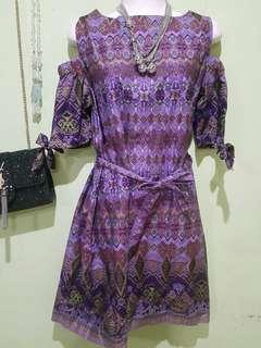 #CNY2019 #Dress Batik Ungu,NEGO