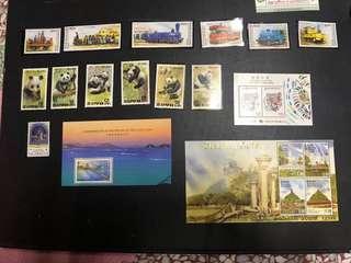 🚚 韓國 香港 國外 郵票