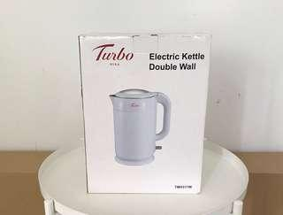 Turbo Mira Double Wall Electric Kettle (White)