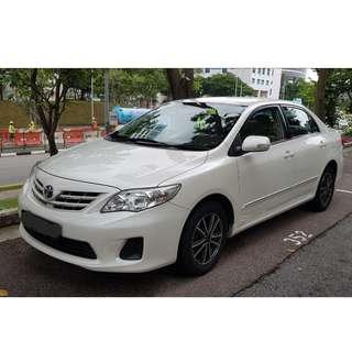 Toyota Altis from $50 a day