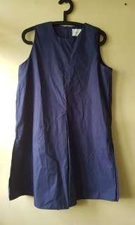 Navy baggy dress with side slid