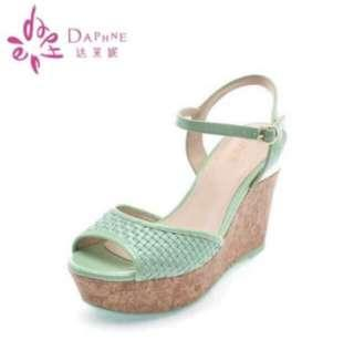 Daphne Mint Casual Wedges