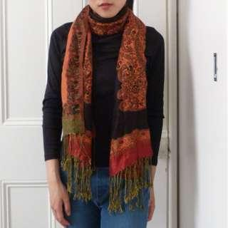 Beautiful Orange Patterned Scarf