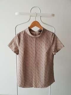 The Executive Top Woman size M Brown