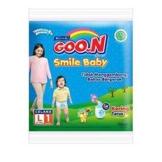 Popok Goon Smile Baby size L1 paket 10pcs