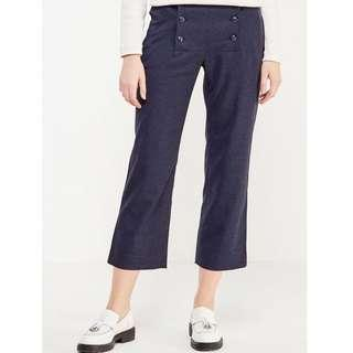 NWT BANANA REPUBLIC Dark Grey Logan Crop Mid Rise Sailor Pants US 12 XXL