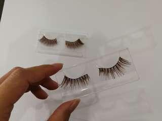 3x eye lashes + 1 free lower eye lashes
