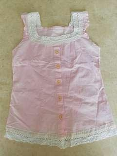 🚚 Give Away - Pink Sleeveless Lace Crochet Top