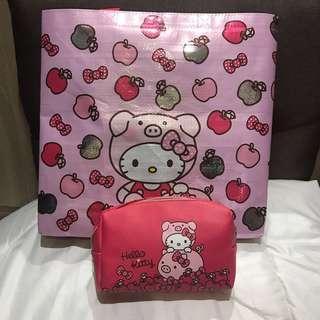🚚 Hello Kitty化妝包/購物袋/7-11福袋#一百均價