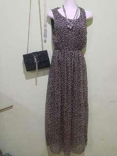 #SHARETHELOVE #Long Dress Leopard Cantik
