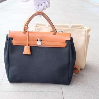 Authentic Hermes Herbag 2 Canvas sz 30cm