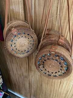 Pattern Bali Rattan Bag