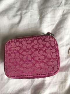 Pink coach pill box
